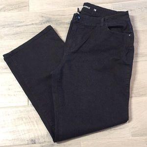 Avenue Bootcut Black Jeans Size 18